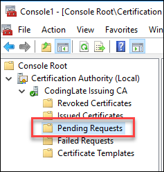 Certificate Pending Requests